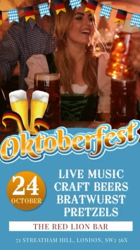 Ocktoberfest Video Restaurant Flyer Template Tampilan Digital (9:16)