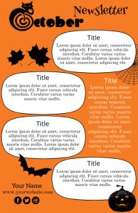 October, Newsletter Tabloide template
