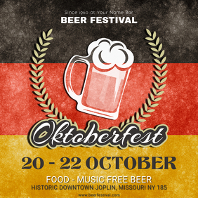 October Beer Festival Musical Event Square Ad Template