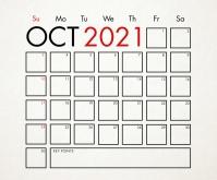 October Calendar 2021 Template Medium Reghoek