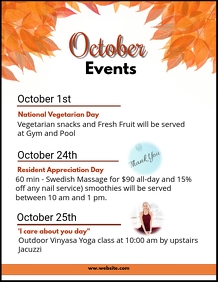 October Events Flyer