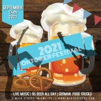 October Festival Food Music Beer Flyer Instagram-opslag template