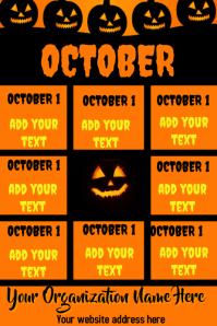 October Halloween Calendar Photos