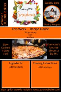 Cooking Blog Newsletter Halloween Poster template