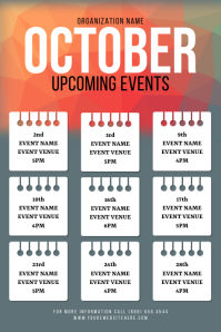 October Upcoming Event Flyer Iphosta template