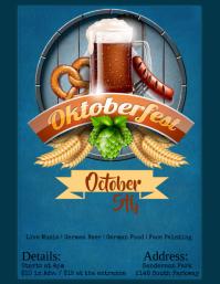 Octoberfest Flyer Folheto (US Letter) template