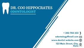 Odontology business card