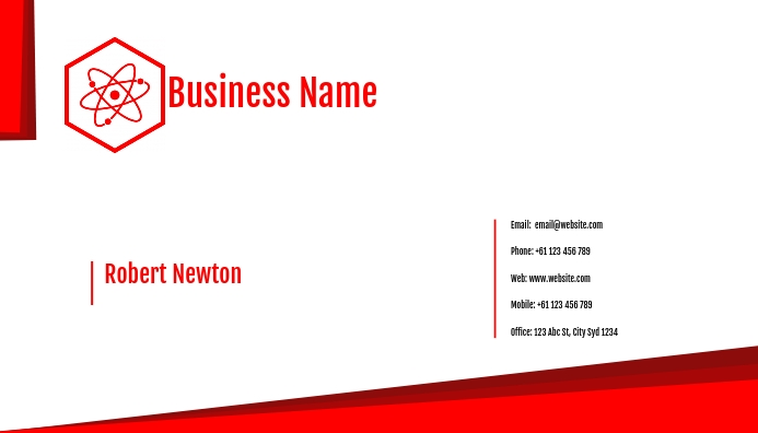 of Business card template Visitekaartje