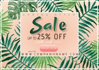 of flyer template spring sale A4