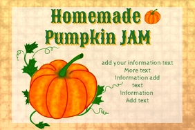 of label for pumpkin jam or other product
