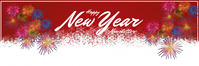of mail header new year E-poskop template