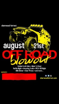 Off Road Blowout Event Template Digital na Display (9:16)