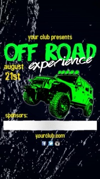 Off Road Event Instagram video Post Digital na Display (9:16) template