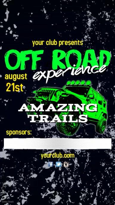 Off Road Event Instagram video Post Digitale display (9:16) template