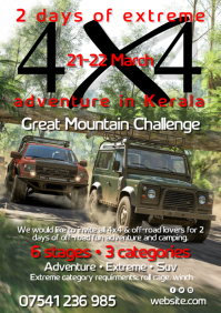 Off-road event poster A3 template
