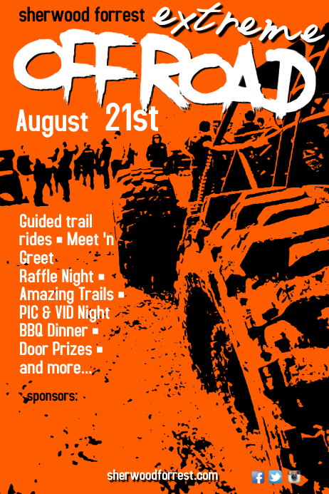 off road extreme poster template