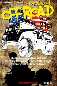 Off Road weeked Poster template