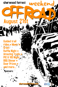 Off Road Weekend Poster template