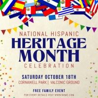 Off white Hispanic Heritage Month Instagram P template