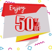 Offer Badge   Discount   50% Off Logo template