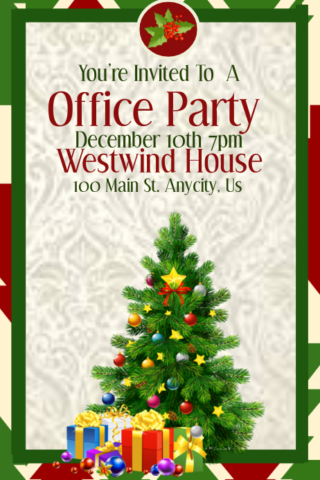 Office Christmas Party Template Postermywall