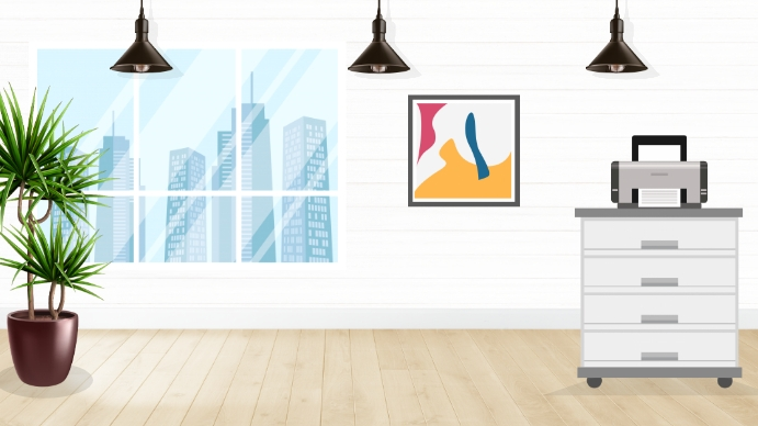 Office Decor Zoom Virtual Background Image Template Postermywall