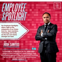Office Employee Spotlight Template Instagram Post