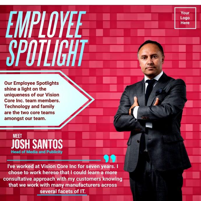 Office Employee Spotlight Template Сообщение Instagram