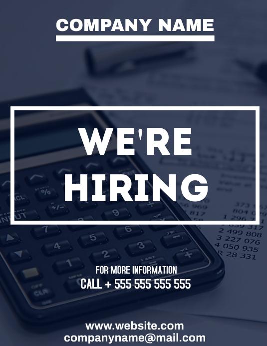 office hiring flyer advertisement