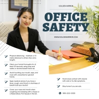 Office Safety Guidelines Square Image Instagram Post template