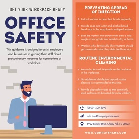 Office Safety Precautionary Rules Square Vide template