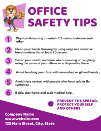 office safety tips Flyer (US Letter) template