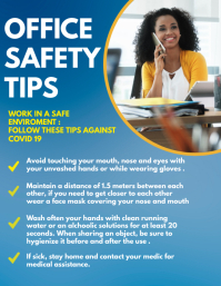 office safety tips flyer design