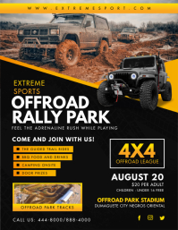 Offroad Car Rally Park Flyer Template Ulotka (US Letter)