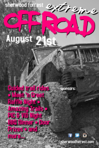 Offroad Extreme Poster template