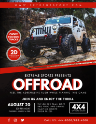 Offroad Rally Event Flyer Template Ulotka (US Letter)