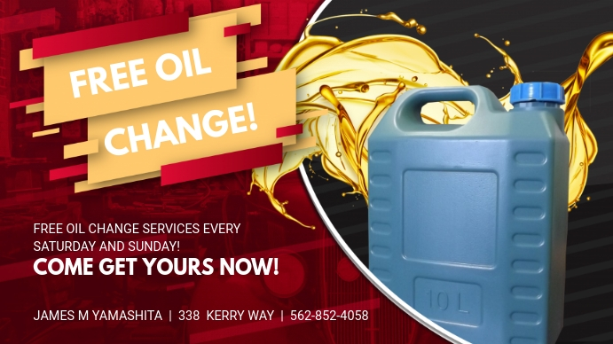 Oil Change Advertisement Display Banner