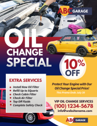 Oil Change Service Flyer ใบปลิว (US Letter) template