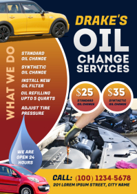 Oil Change Services Flyer A4 template