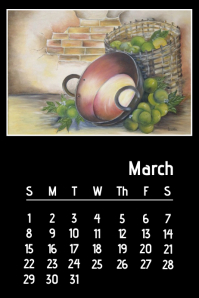 Oil Painting calendar March 2020