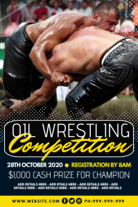 Oil Wrestling Competition Poster