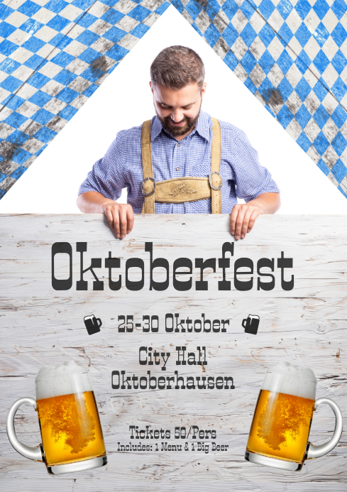 Okoberfest flyer template a4