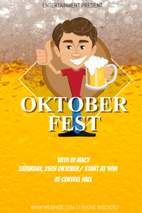Okroberfest event flyer template