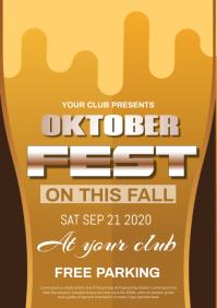 oktober fest A4 template