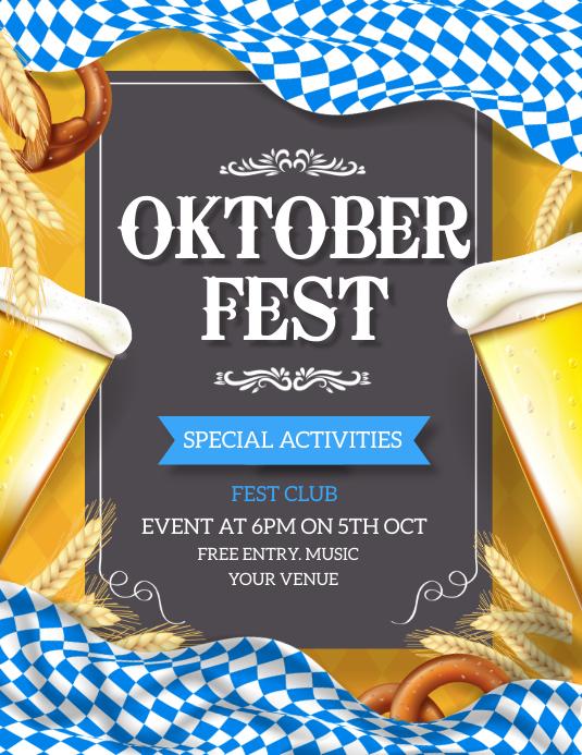 oktober fest Flyer (format US Letter) template