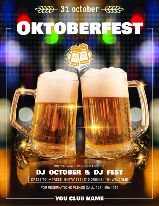 Oktober Fest Festival Party Flyer