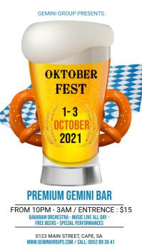 Oktober Fest Flyer Instagram Story template