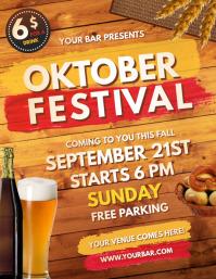 Oktoberfest, Bar Flyer, Cocktail Party