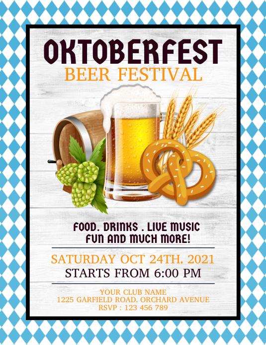 oktoberfest, bar flyers, oktoberfest party template