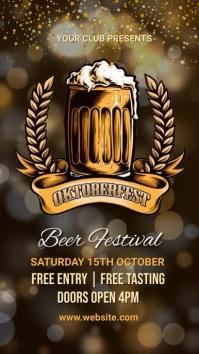Oktoberfest,fest,beer festival,event Instagram Story template